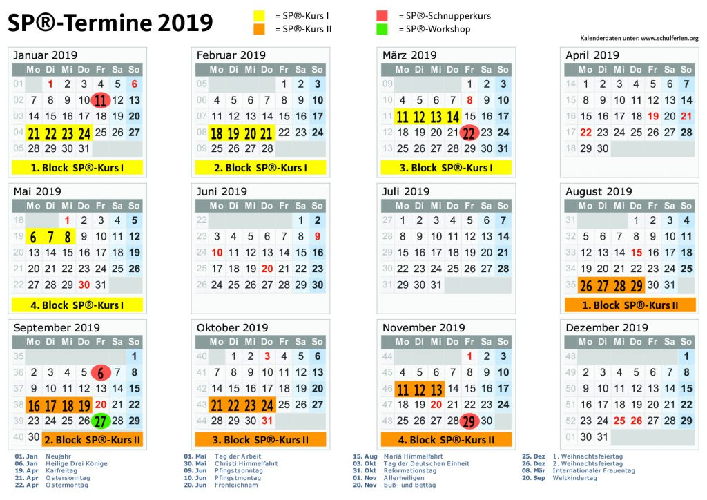 Termine in 2019